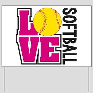 Love Softball Yard Sign