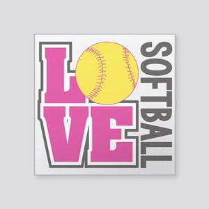 Love Softball Sticker