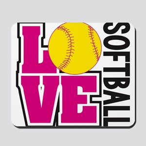 Love Softball Mousepad