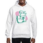 Pop Art - Green Mixer Hooded Sweatshirt