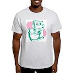 Pop Art - Green Mixer Ash Grey T-Shirt