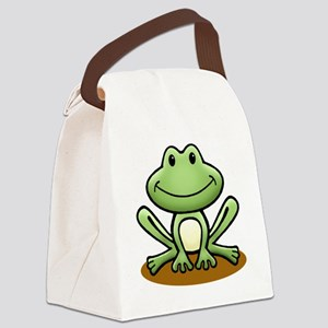 Green Frog Canvas Lunch Bag