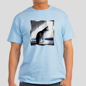 Cat in sun with blue tones Light T-Shirt