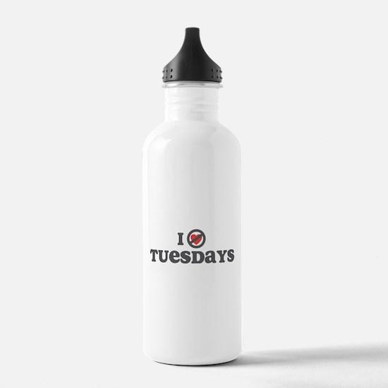 Don't Heart Tuesdays Water Bottle