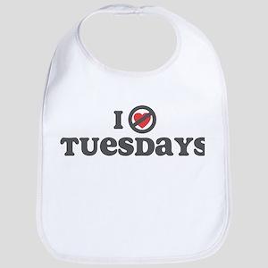 Don't Heart Tuesdays Bib