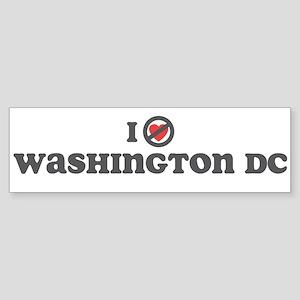 Don't Heart Washington Sticker (Bumper)