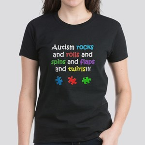 Autism Rocks Women's Dark T-Shirt