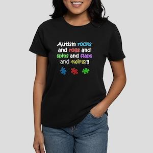 Autism Rocks Women's Dark T-Shirt