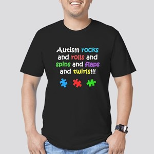 Autism Rocks Men's Fitted T-Shirt (dark)
