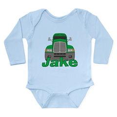 Trucker Jake Long Sleeve Infant Bodysuit