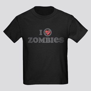 Don't Heart Zombies Kids Dark T-Shirt