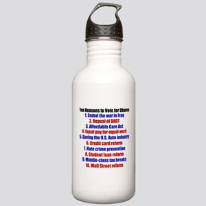 Obama's Accomplishments Stainless Water Bottle 1.0