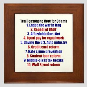 Obama's Accomplishments Framed Tile