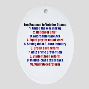Obama's Accomplishments Ornament (Oval)