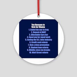 Obama's Accomplishments Ornament (Round)