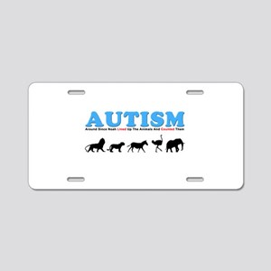Autism, Around Since Noah Lin Aluminum License Pla