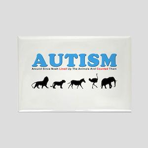 Autism, Around Since Noah Lin Rectangle Magnet