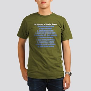 Obama's Accomplishments Organic Men's T-Shirt (dar