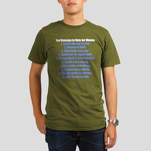 Obama's Accomplishments Organic Men's T-Shirt (dar