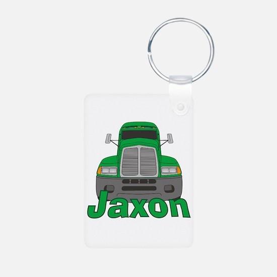 Trucker Jaxon Aluminum Photo Keychain