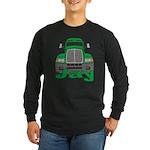 Trucker Jay Long Sleeve Dark T-Shirt