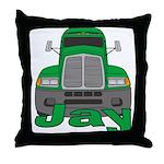 Trucker Jay Throw Pillow
