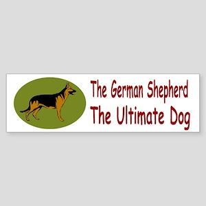 GSD Ultimate Green Oval Sticker (Bumper)