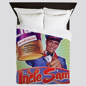 Government Lies Retro Queen Duvet