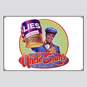 Government Lies Retro Banner