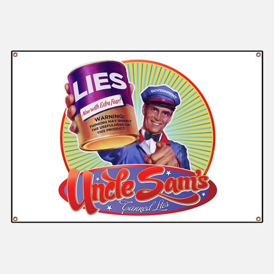 Government Lies Retro Banner