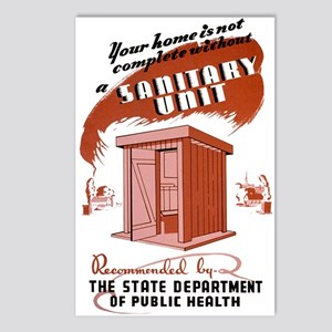 Sanitation Unit WPA Poster Postcards (Package of 8