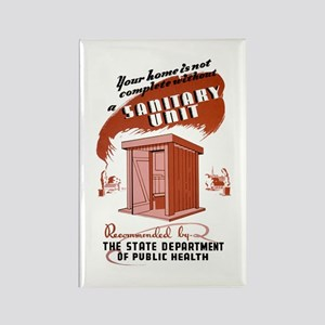 Sanitation Unit WPA Poster Rectangle Magnet