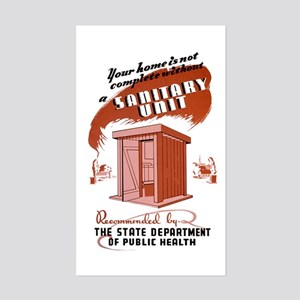 Sanitation Unit WPA Poster Sticker (Rectangle)