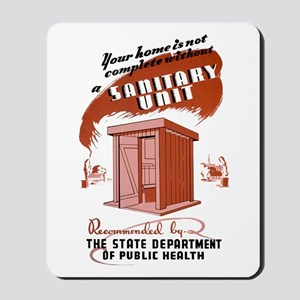 Sanitation Unit WPA Poster Mousepad