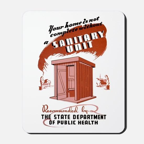 Sanitation Unit WPA Poster Mousepad