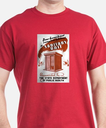 Sanitation Unit WPA Poster T-Shirt