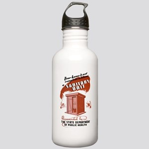 Sanitation Unit WPA Poster Stainless Water Bottle