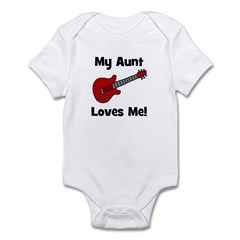My Aunt Loves Me! w/guitar Infant Creeper