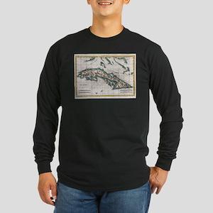 Vintage Map of Cuba (1780) Long Sleeve T-Shirt
