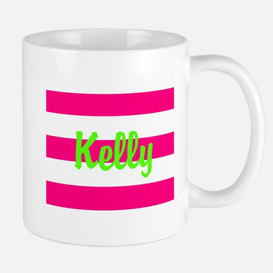 Personalized Pink and Green Mug