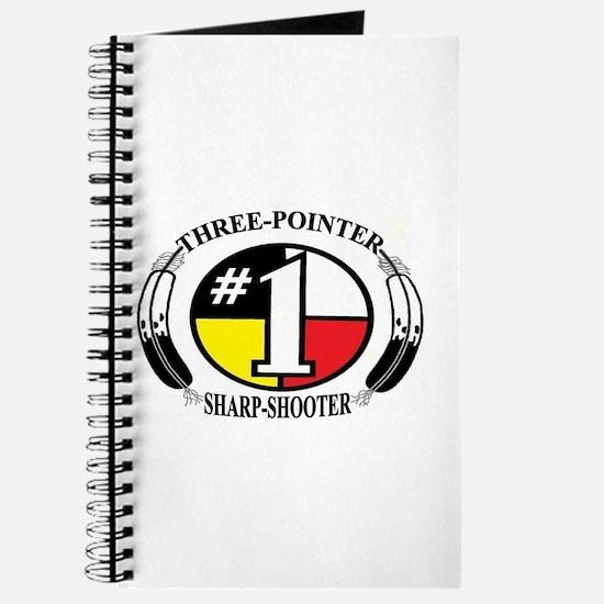 #1 Basketball Three-pointer Sharp-shooter Journal