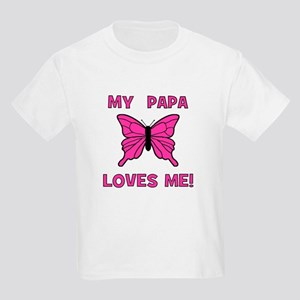 My Papa Loves Me! w/butterfly Kids T-Shirt