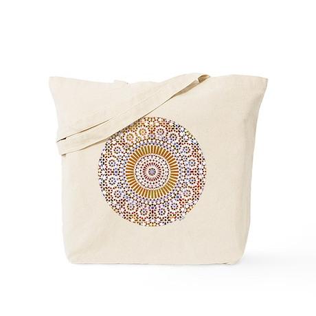 sacral orange second chakra mosaic circle Tote Bag