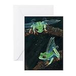 Wishing Frog II Greeting Cards (Pk of 10)