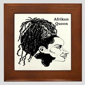 Afrikan Queen Framed Tile