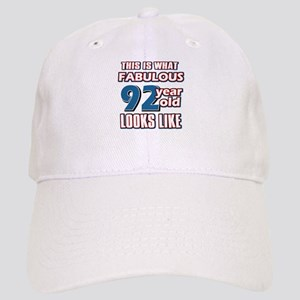 Cool 92 year old birthday designs Cap