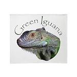 Green Iguana Throw Blanket