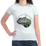 Green Iguana Jr. Ringer T-Shirt