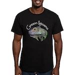 Green Iguana Men's Fitted T-Shirt (dark)