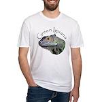 Green Iguana Fitted T-Shirt